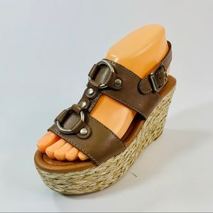 Lucky Brand Brown Espedrilles Sandals